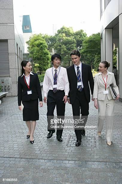 Group of executives walking