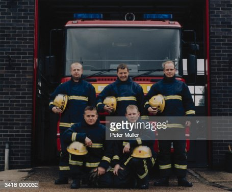 Group of Firefighters : Stock Photo