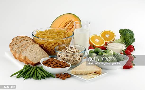 Gruppe von Speisen Ballaststoffe