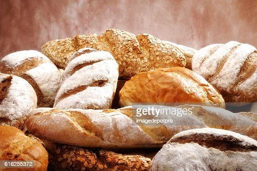 group of fresh breads : Stock Photo