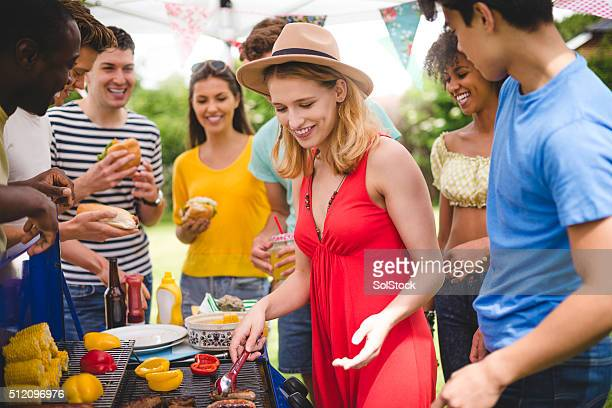 Group of Friends at a BBQ