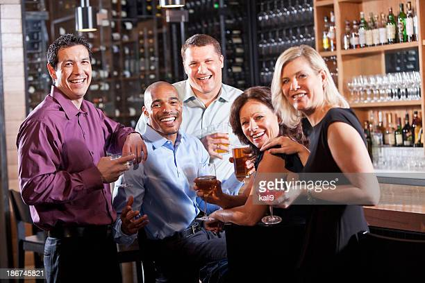 Group of friends at bar