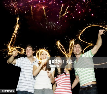 Group of friends celebrating : Stock Photo