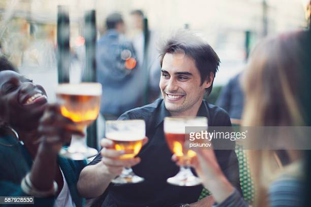 Group of Friends Drinking a Beer