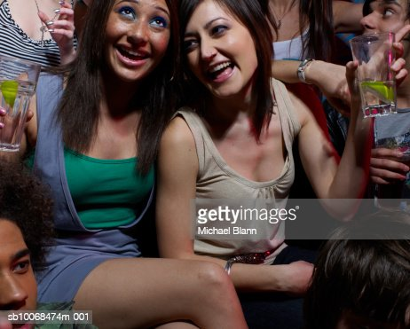 Group of friends drinking at party : Stock Photo