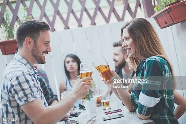 Group Of Friends Enjoying Drink
