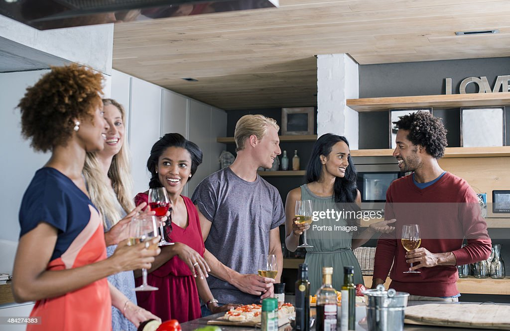 Group of friends enjoying tim together