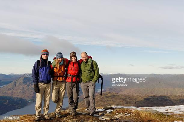 Group of friends on Ben Lomond
