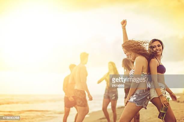 Gruppo di amici festa sul mare