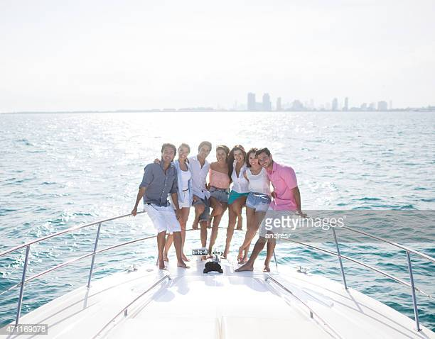 Group of friends sailing the Caribbean