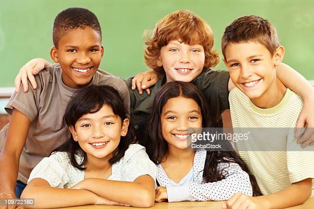 Group of friends smiling together