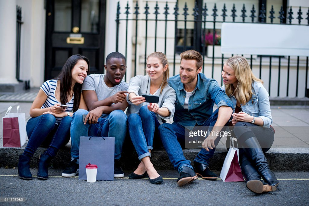 Group of friends social networking