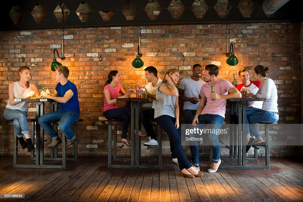 Group of Friends Socialising : Stock Photo