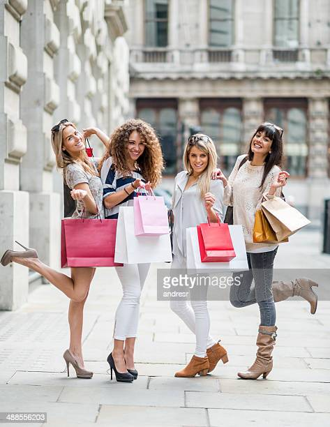 Group of friends very happy with their Shopping