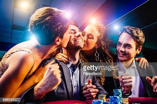 Group of friends winning at Casino