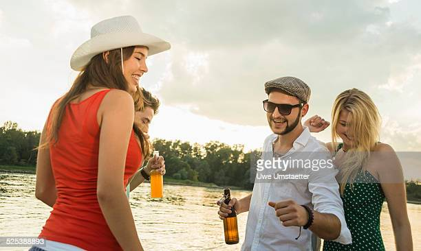 Group of friends with beer