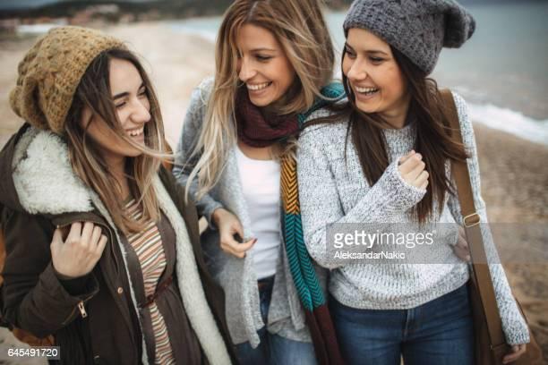 Group of girlfriends on a roadtrip