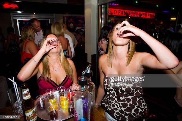 A group of girls drinking Lineker's Bar Playa de las Américas Tenerife Canary Islands 2007