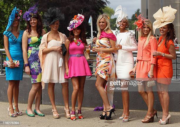 A group of girls pose for a photograph during day two of Royal Ascot on June 15 2011 in Ascot England The fiveday meeting is one of the highlights of...
