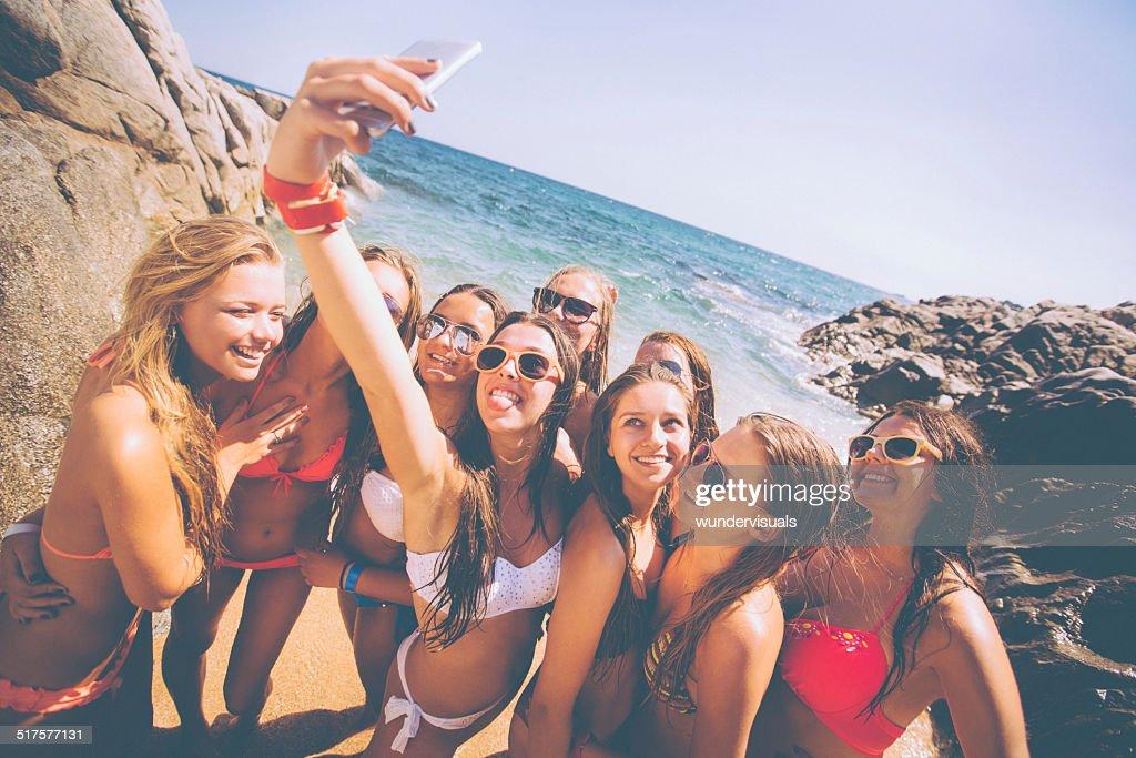 Gruppe von Mädchen Schülern : Stock-Foto