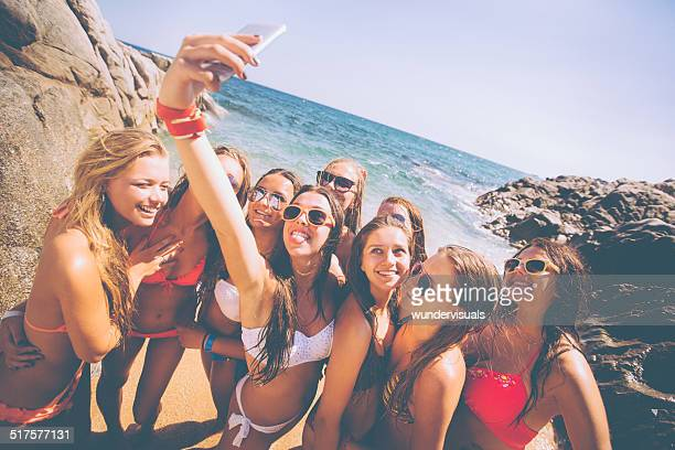 Group of Girls Taking Selfie