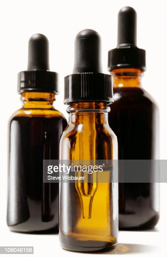 A group of glass tinctures  : Stock Photo