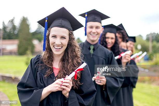 Group of graduates smiling