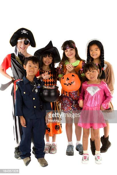 Group of Halloween Trick or Treaters