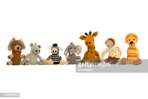 Group of Handmade Stuff Toys
