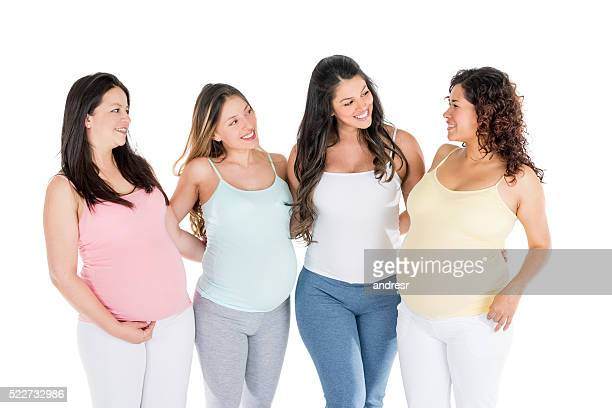 group young pregnant women