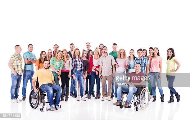 Feliz grupo de jóvenes.