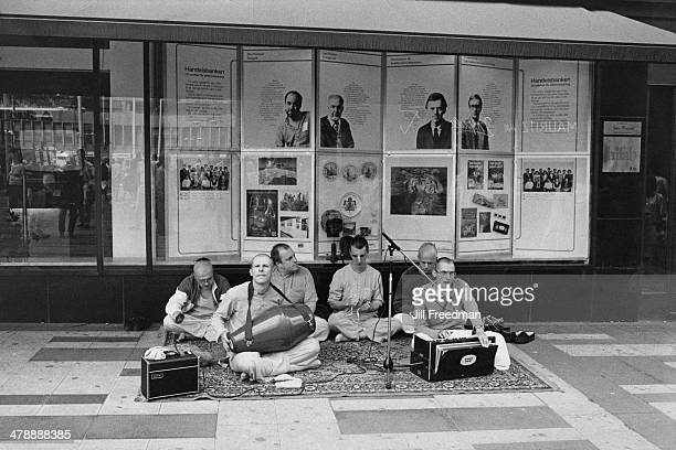 A group of Hare Krishna musicians in Sweden 1985