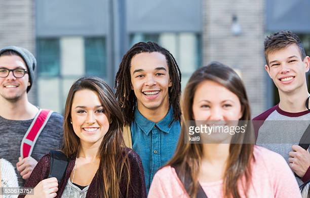 Group of high school or college students
