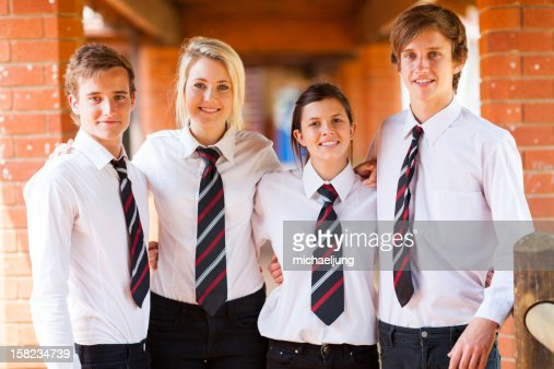group of high school students : Stock Photo