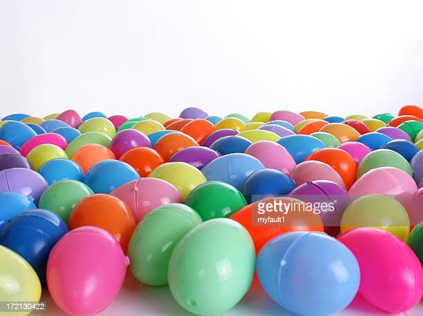Group of hinged Easter Eggs horizontal