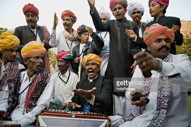 A group of Indian folk musicians India