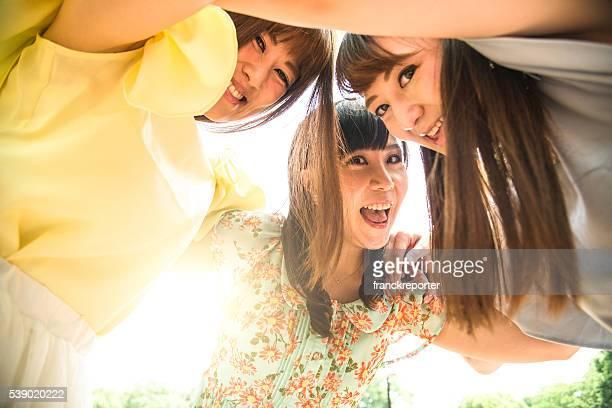 Grupo de amigos reuniões Desfrute de Japonês