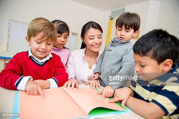 Group of kids at school