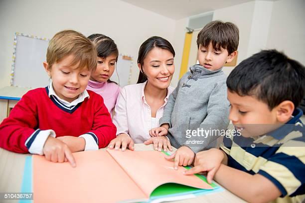Group of kids at school