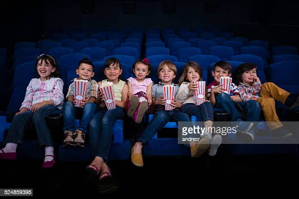 Group of kids at the cinema