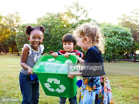 Group of kids school volunteer charity environment : Stock Photo