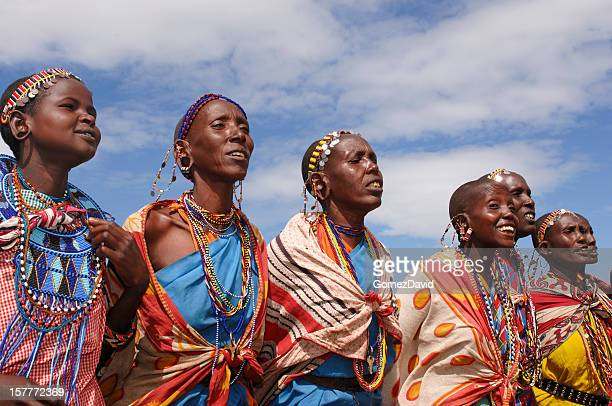 Group of Maasai Women Singing.