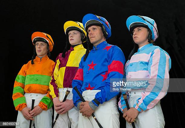 Group of Male and Female Jockeys