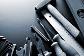 Group of Construction Tools, Toned