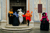 Group of masks at carnival in Venice (XXL)