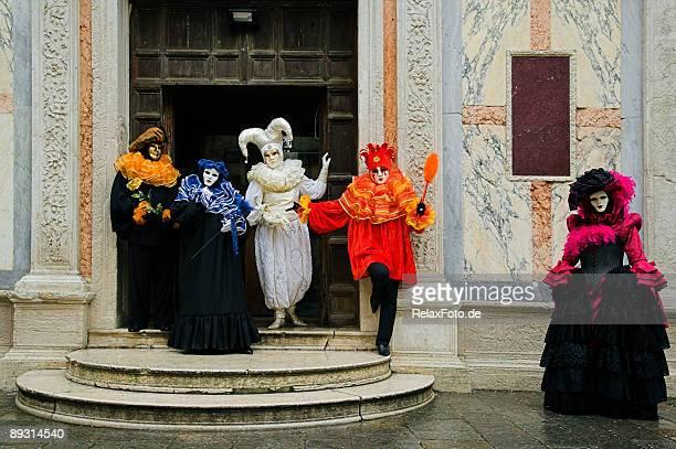 Gruppo di maschere di carnevale veneziano (XXL