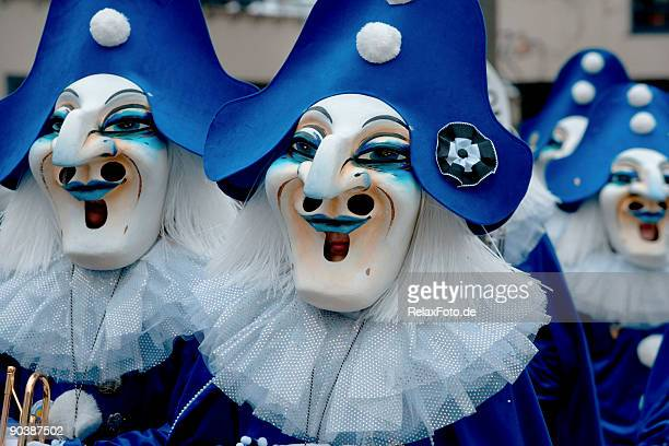 Group of masks at Fasnacht Festival in Basel (XXL)