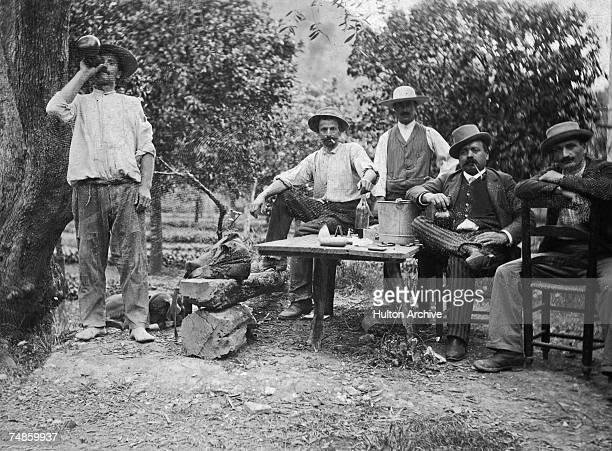 A group of men at Las Sallas in the Valley of Caguas Puerto Rico 1894