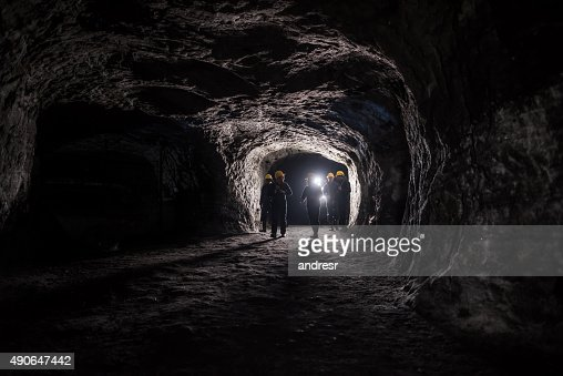 Group of men in a mine