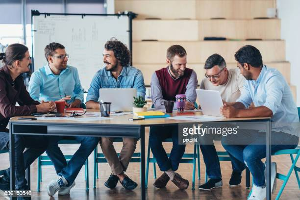 Group of men on a business meeting